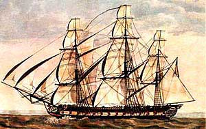 The Essex in Galapagos c. 1813
